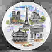 Vintage Paris Souvenir Plate - 1960s/1970s Souvenir Travel Plate - Vintage Tourist Plate | FREE SHIPPING by Trovetorium