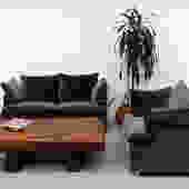 Stunning Wavy Leolux Lounge Chair in Grey Velvet