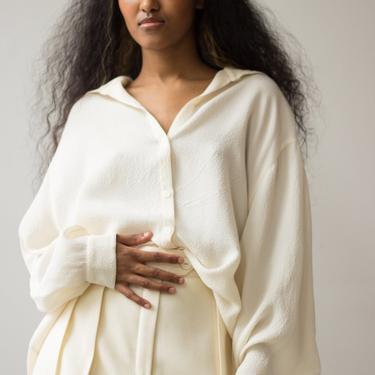 1980s Isaac Mizrahi Textured Silk Dolman Blouse by waywardcollection