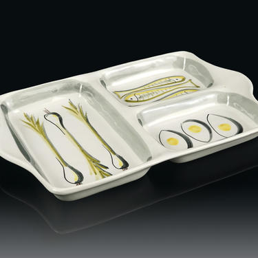 Italian Ceramic Tray Serving Platter Hors d'oeuvre Mid Century Modern Modern by VintageInquisitor