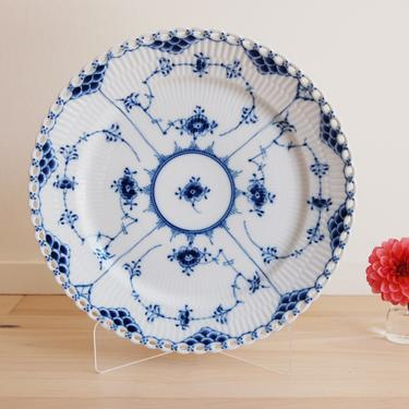 Royal Copenhagen Blue Fluted Full Lace Serving Plate Made in Denmark, 627 by MidCentury55