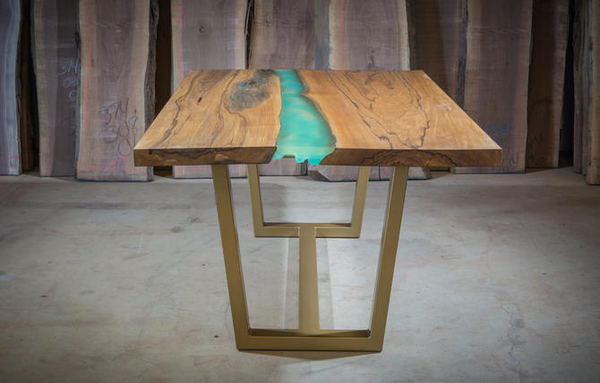 "Panama Table - ""Resin Stream"" by KirkpatrickDesigns"