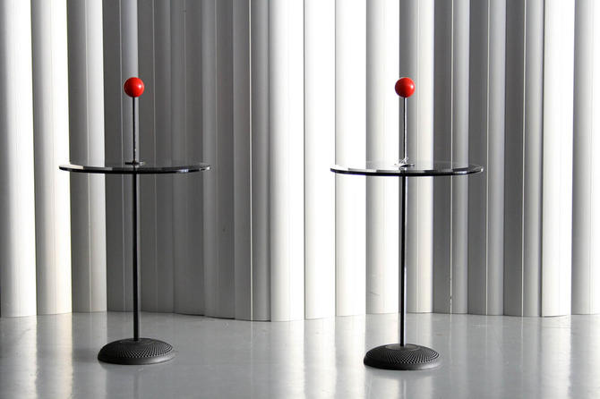Glass and Metal tables by Fontana Arte
