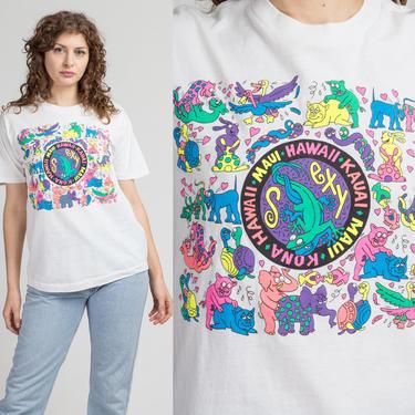 90s Animal Sex Hawaii Tourist Tee - Medium | Vintage Hawaiian Islands Funny Graphic T Shirt by FlyingAppleVintage