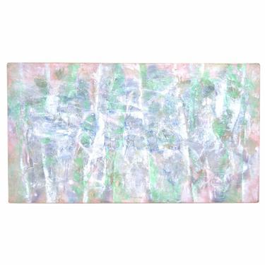Vintage Large Abstract Acrylic Painting Pastel Colors Edward Goldman by PrairielandArt