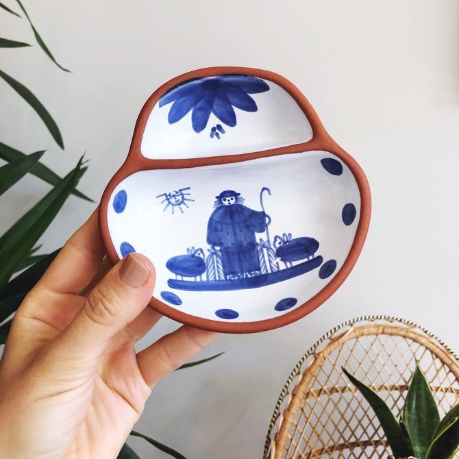 Vintage Portuguese Terra Cotta Ceramic Dish by TheDistilleryVintage