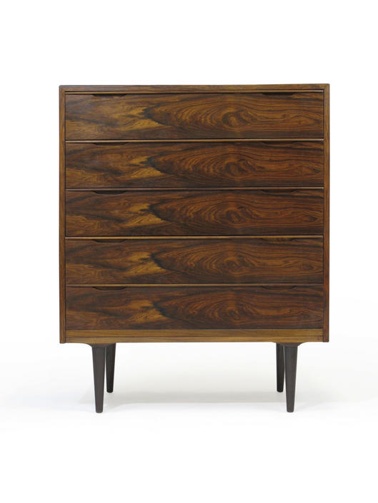 VINTAGE DANISH BRAZILIAN ROSEWOOD CHEST OF DRAWERS