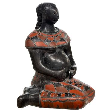 Mexican Blackware Fertility Figure
