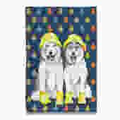 Raining Huskies Husky Tea Towel