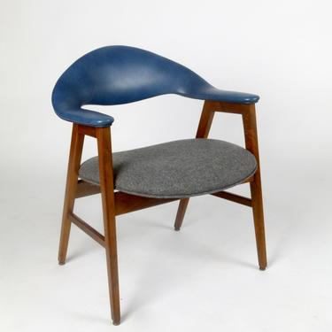 1960s Walnut Frame Arm Chair