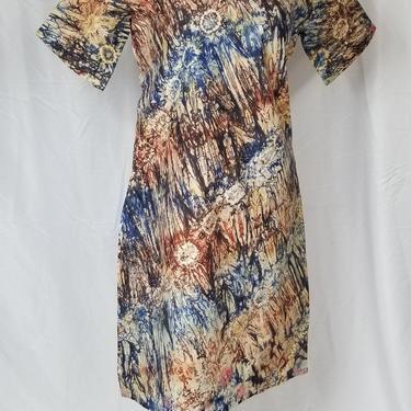 BELLA African batik Shift dress (Blue and brown) by GLAMMfashions