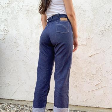 Vintage 60's Roy Rogers Sears Roebuck High Waisted Denim Blue Jeans sz 26 by CottontailTrdPost