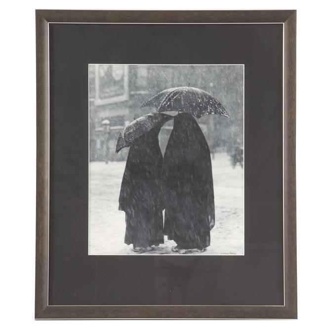 A. Aubrey Bodine. Nuns in a Snowstorm