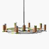 danish modern 1970's swag chandelier