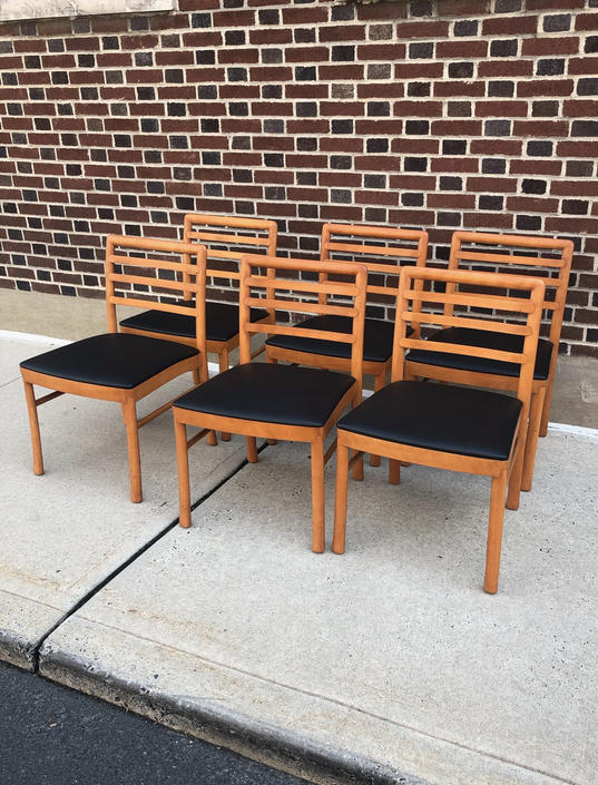 Teak Dining Chairs Set of 6 - Mint Condition by bcdrygoods
