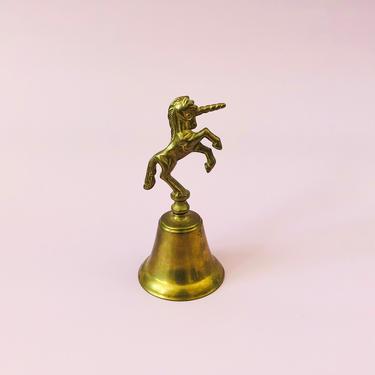 Vintage Brass Unicorn Bell by SergeantSailor
