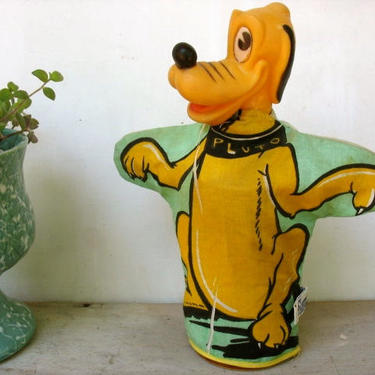 Vintage Disney Pluto Puppet, Gund Dog Hand Puppet, Cartoon Character With Squeaker, Mickey Mouse's Dog, Teacher Story Prop by luckduck