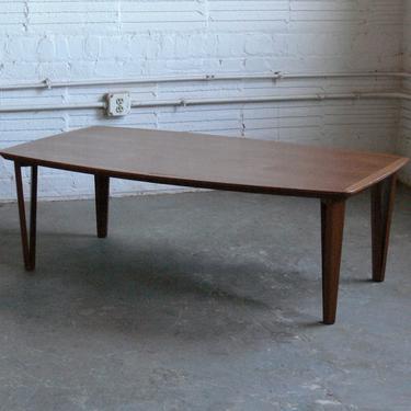 Vintage Danish Teak Coffee Table by Laurits M Larsens by CoMod