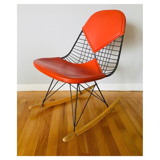 (AVAILABLE) Early Authentic Eames RKR-2 Rocking Chair