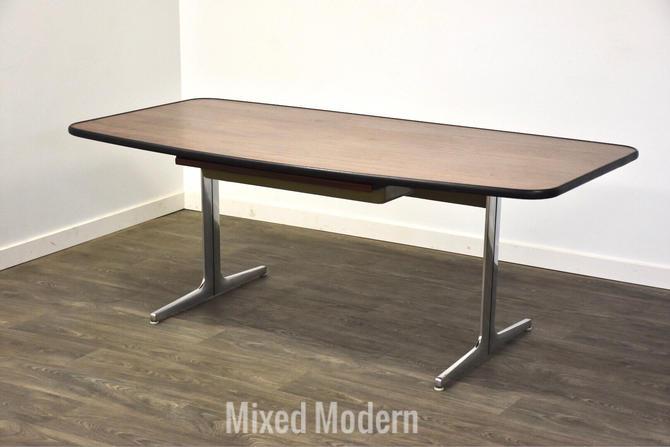 George Nelson for Herman Miller Action Walnut Desk by mixedmodern1