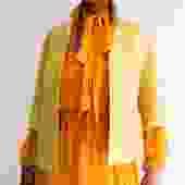 Rochas Angora Blend Casual Jacket, Size 40