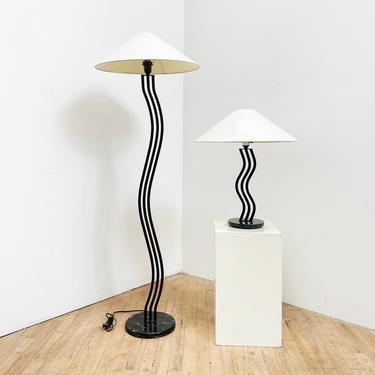 Postmodern Wavy Lamp Squiggle 80s Memphis Vintage by 330Modern
