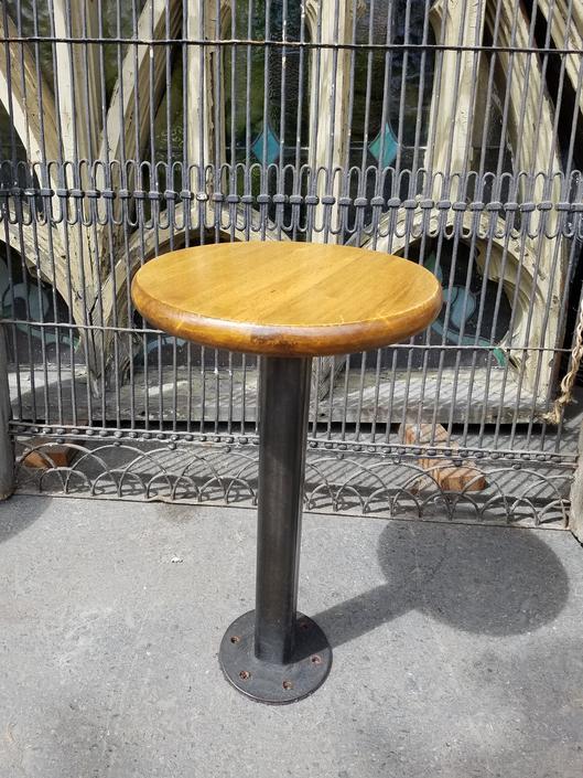 Mahogany top stationary bar stool