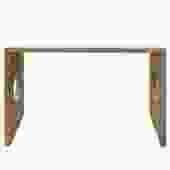 Oriental Zen Unfinished Wood Slim Open Side Table cs4944S