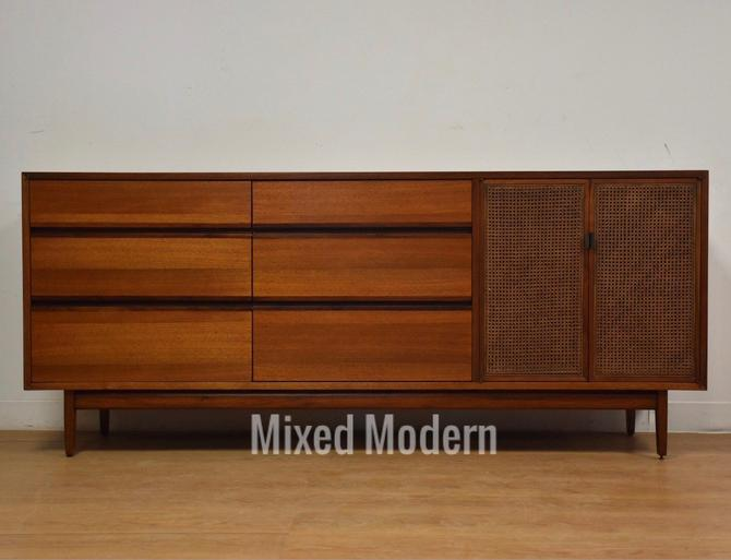 Kipp Stewart for Calvin Walnut Dresser Vanity by mixedmodern1