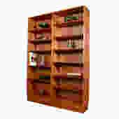 Danish Modern Teak Full Double Bookcase