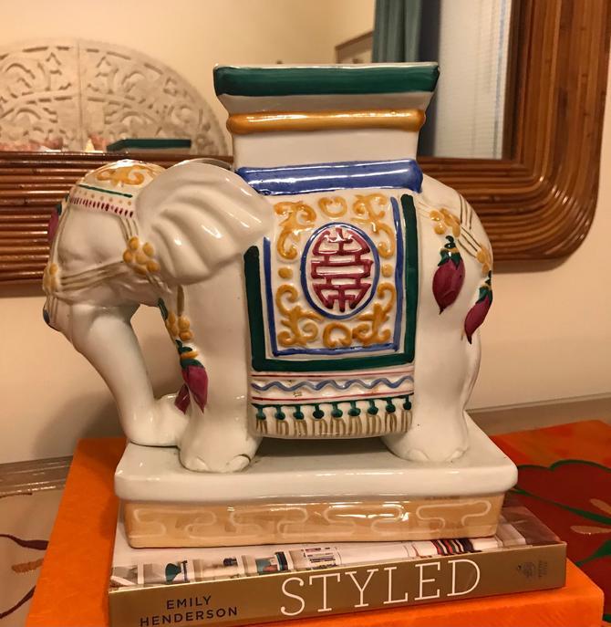Vintage elephant plant stand / figurine by HolbrookBazaar