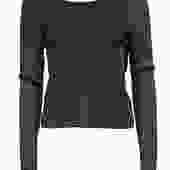 A.L.C. - Bronze Metallic Sparkly Ribbed Sweater w/ Wrap Open Back Sz L
