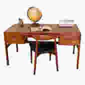 Exquisite Danish Modern Teak Executive Desk