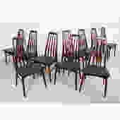 Set of 10 Koefoed Hornslet Danish Rosewood Dining Chairs