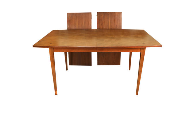 Mid Century Modern American of Martinsville Walnut Dining Table by Marykaysfurniture