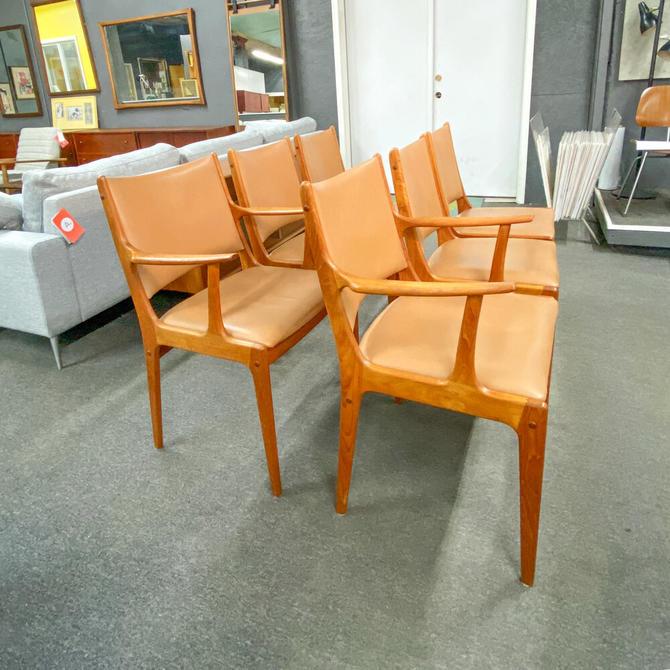 Set of 6 uldum mØbelfabrik dining chairs