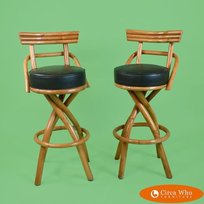 Pair of Bar Stools Paul Frankl Style