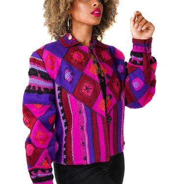 Felted Wool Patchwork Jacket