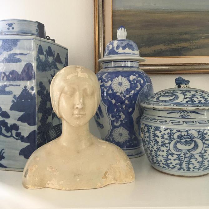 Vintage Ceramic Female Bust Statue Caproni Bros Plaster Co Bust Classic Repro by PursuingVintage1