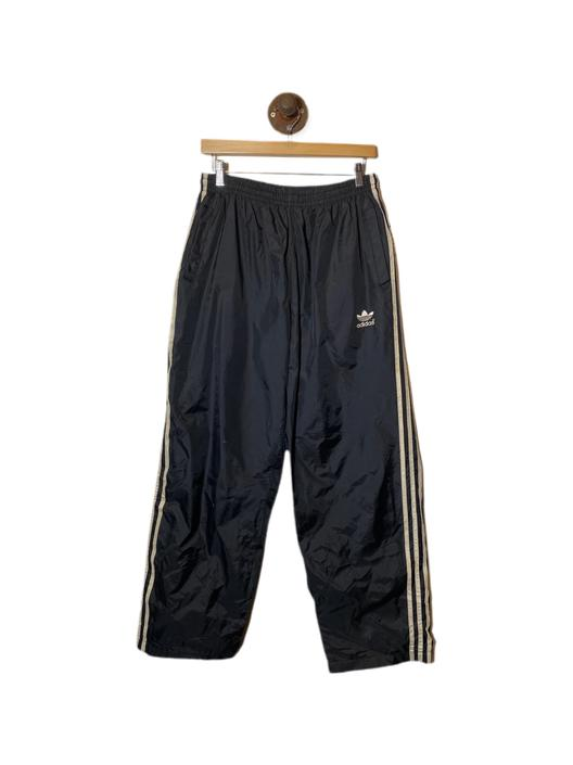 (L) Adidas Black/White Windbreaker Track Pants 022421