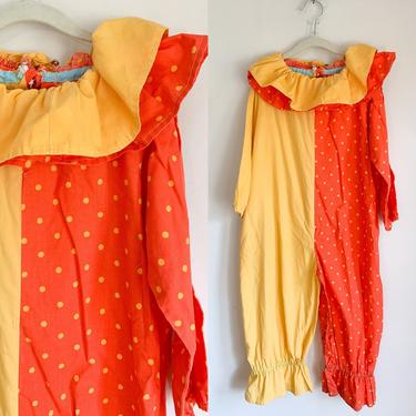 Vintage 1970/80s Child's Clown Costume / 10-12x by MsTips