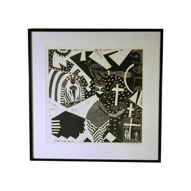 "Susie Ketchum ""Sanctuary"" Artist Proof Linocut Print by MetronomeVintage"