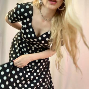 Sweetheart polka dot dress by shopjournal