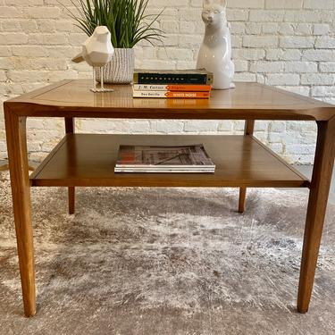 Mid Century MODERN Oak Square Side Table / END TABLE by CIRCA60