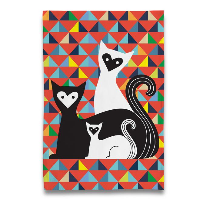 Cat Trio Tea Towel