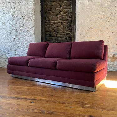 Mid century modern sofa Milo Baughman sofa mid century three seat sofa by VintaDelphia