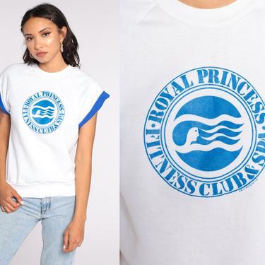 Royal Princess Shirt Cruise Ship Shirt Short Sleeve Sweatshirt 80s Vintage T Shirt Graphic Print Travel Spa 1980s Medium by ShopExile