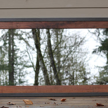Metal And Wood Mirror by MakersWoodworks