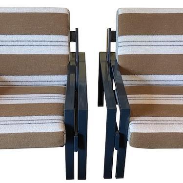 Pair of Belgian Metal Armchairs