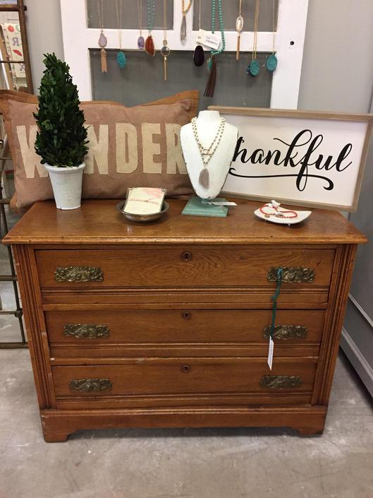 Oak Three Drawer Dresser #202 by StylishPatina
